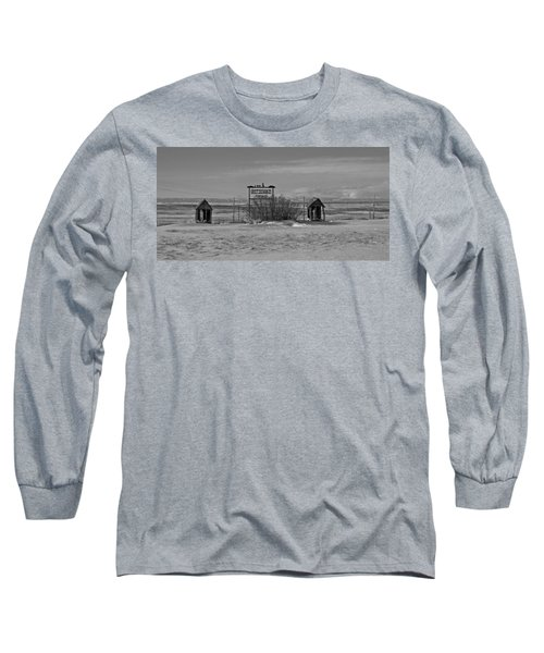 Long Sleeve T-Shirt featuring the photograph Savageton Cemetery  Wyoming by Cathy Anderson
