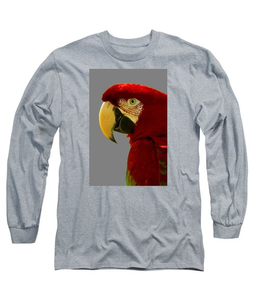 Long Sleeve T-Shirt featuring the photograph Scarlet Macaw by Bill Barber
