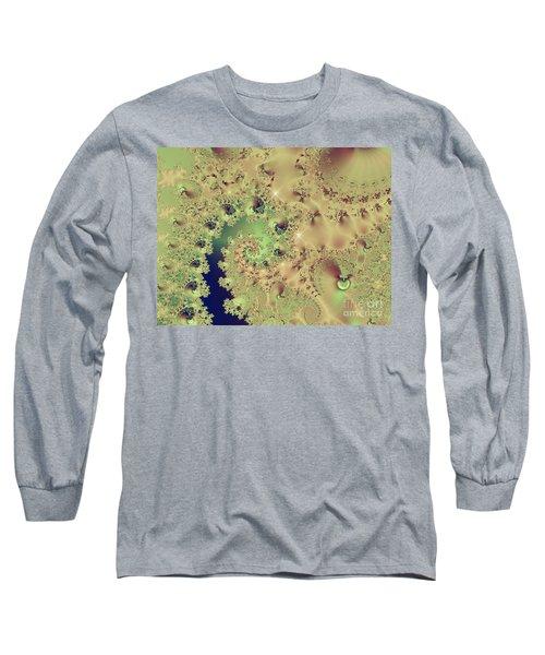 Sea Shells And Cockle Tales Abstract Digital Art Prints Long Sleeve T-Shirt