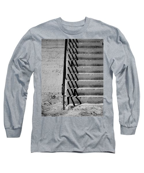 Sea Wall Steps Long Sleeve T-Shirt by Perry Webster