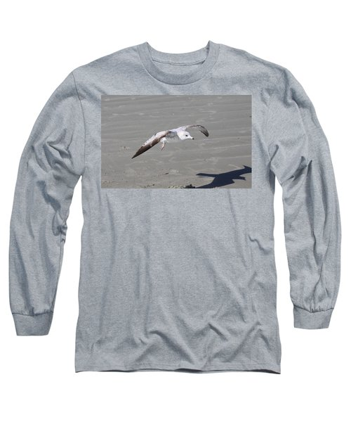 Long Sleeve T-Shirt featuring the pyrography Seagull by Chris Thomas