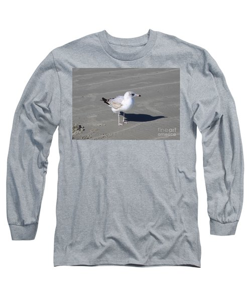 Long Sleeve T-Shirt featuring the pyrography Seagull On The Hunt by Chris Thomas