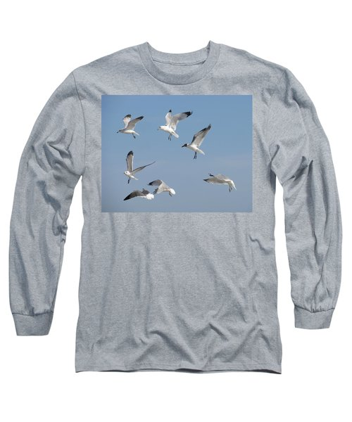 Seagulls See A Cracker Long Sleeve T-Shirt