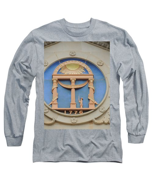 Long Sleeve T-Shirt featuring the photograph seal of Georgia by Aaron Martens