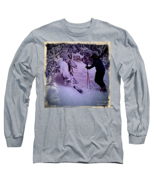 Searching For Powder Long Sleeve T-Shirt by James Aiken