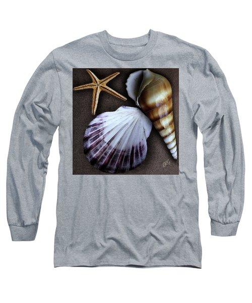Seashells Spectacular No 37 Long Sleeve T-Shirt by Ben and Raisa Gertsberg