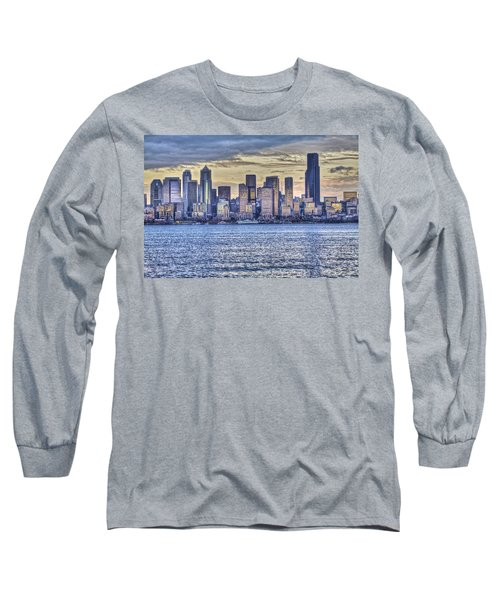 Seattle At Twilight From Alki Beach Long Sleeve T-Shirt