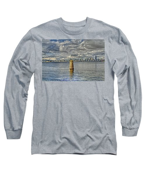 Seattle Skyline And Cityscape Long Sleeve T-Shirt
