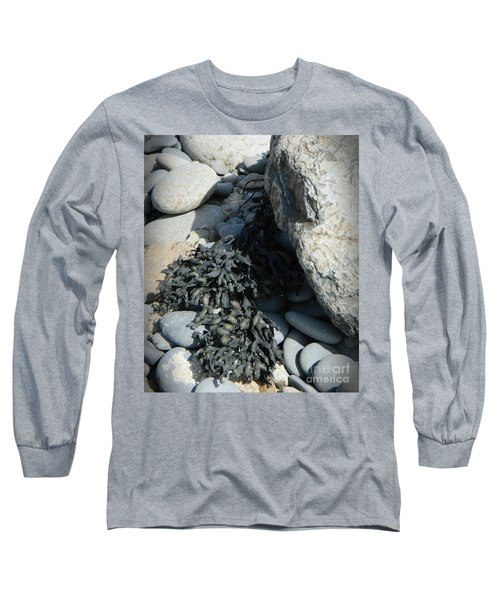 Seaweed And Rocks  Long Sleeve T-Shirt by Chalet Roome-Rigdon