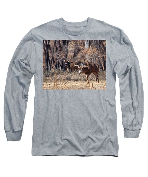 Long Sleeve T-Shirt featuring the photograph Seeing Double by Jim Garrison