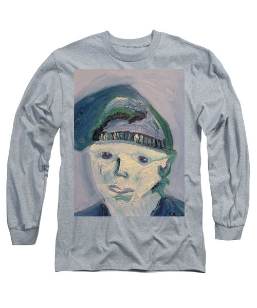 Self Portrait In Blue And Green Long Sleeve T-Shirt