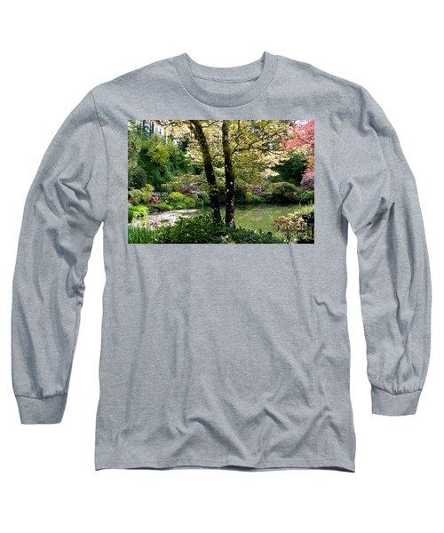 Serene Garden Retreat Long Sleeve T-Shirt