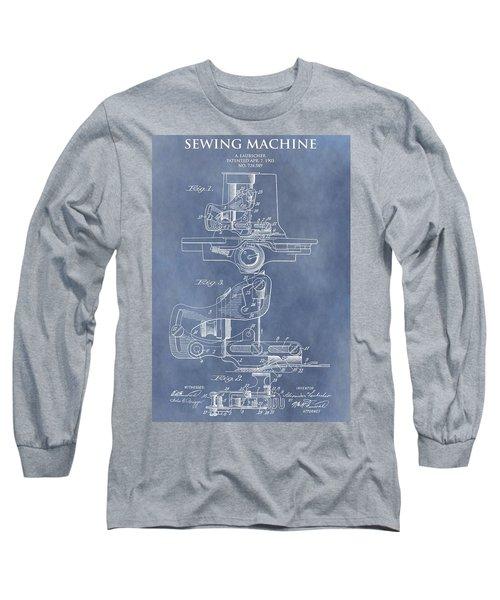 Sewing Machine Patent Long Sleeve T-Shirt