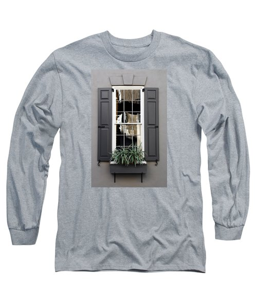 Shades Of Grey In Charleston Long Sleeve T-Shirt by Skip Willits