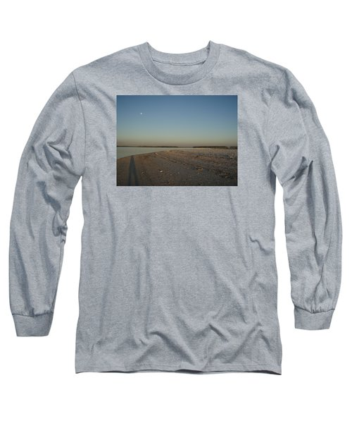 Long Sleeve T-Shirt featuring the photograph Shadow Moon by Robert Nickologianis