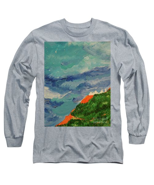Long Sleeve T-Shirt featuring the painting Shangri-la by First Star Art