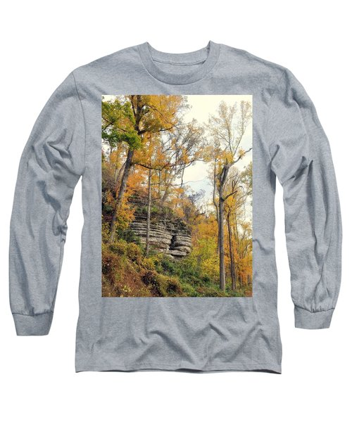 Long Sleeve T-Shirt featuring the photograph Shawee Bluff In Fall by Marty Koch