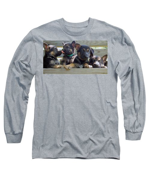 Shepherd Pups 5 Long Sleeve T-Shirt