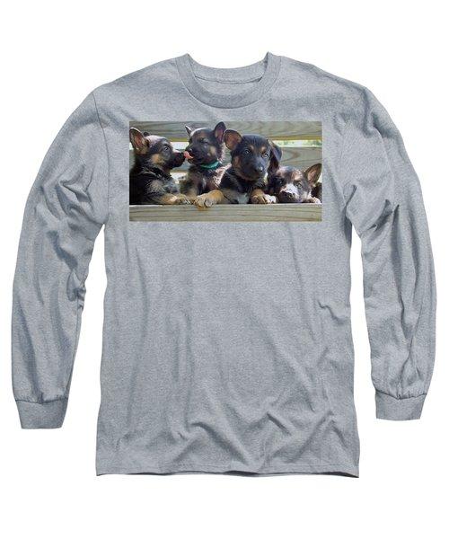 Shepherd Pups 5 Long Sleeve T-Shirt
