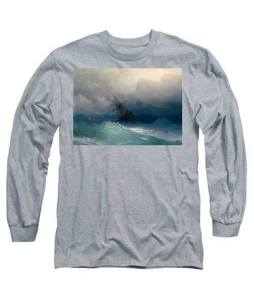 Ship On Stormy Seas Long Sleeve T-Shirt