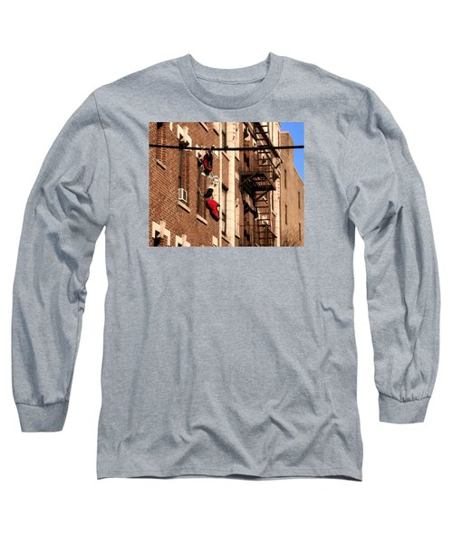 Shoes Hanging Long Sleeve T-Shirt by RicardMN Photography