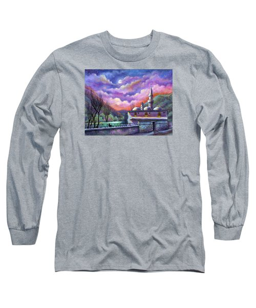 Shoot For The Moon Long Sleeve T-Shirt by Retta Stephenson