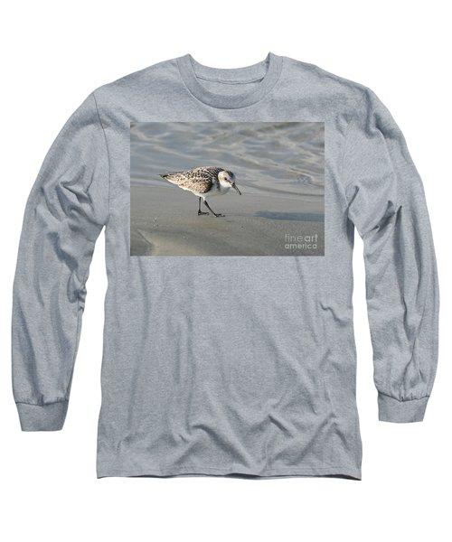 Shore Bird On Ocean Beach Long Sleeve T-Shirt