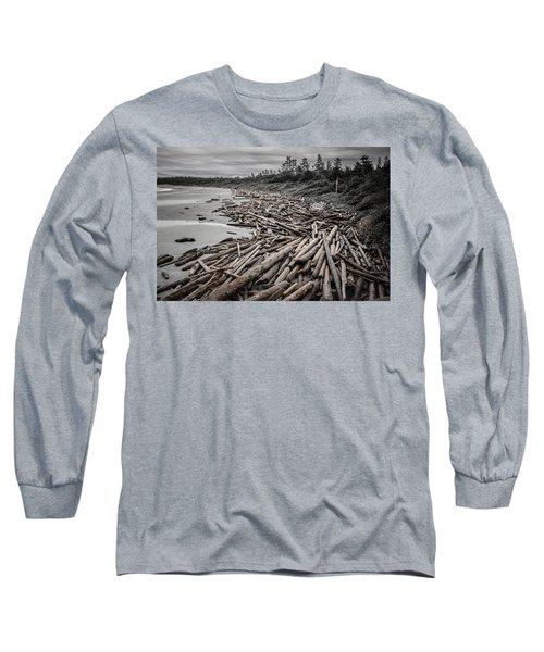 Shoved Ashore Driftwood  Long Sleeve T-Shirt