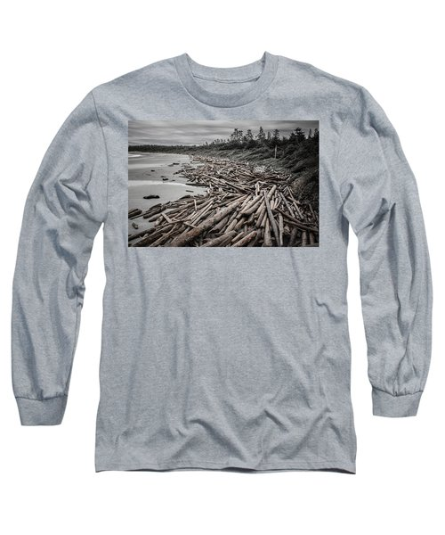 Shoved Ashore Driftwood  Long Sleeve T-Shirt