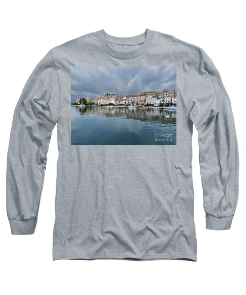 Long Sleeve T-Shirt featuring the photograph Sibenik Waterfront - Croatia by Phil Banks