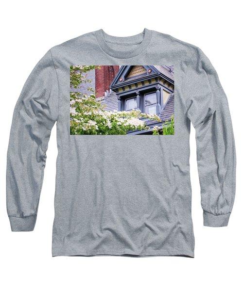 Side Window And Dogwoods Long Sleeve T-Shirt