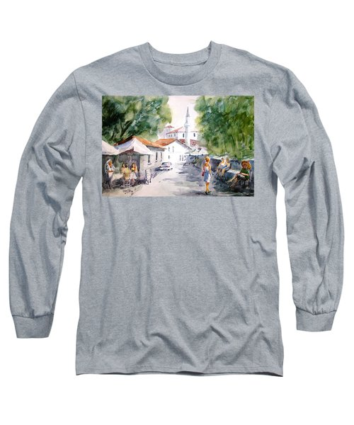 Long Sleeve T-Shirt featuring the painting Siesta In Bozcaada... by Faruk Koksal