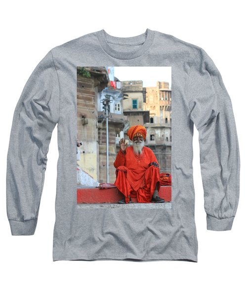 Indian Man Long Sleeve T-Shirt by Amanda Stadther
