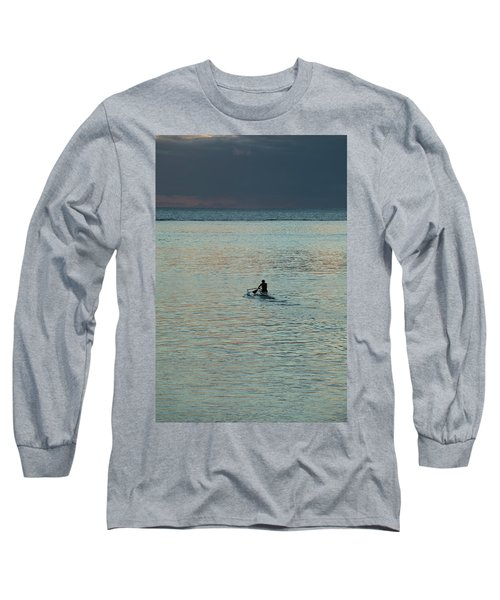 Silhouette Of A Person Driving Jet Ski Long Sleeve T-Shirt