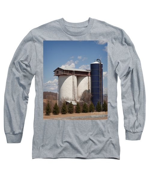 Silo House With A View - Color Long Sleeve T-Shirt by Carol Lynn Coronios