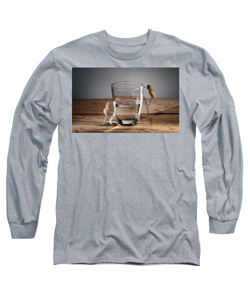 Simple Things - Half Empty Or Half Full Long Sleeve T-Shirt