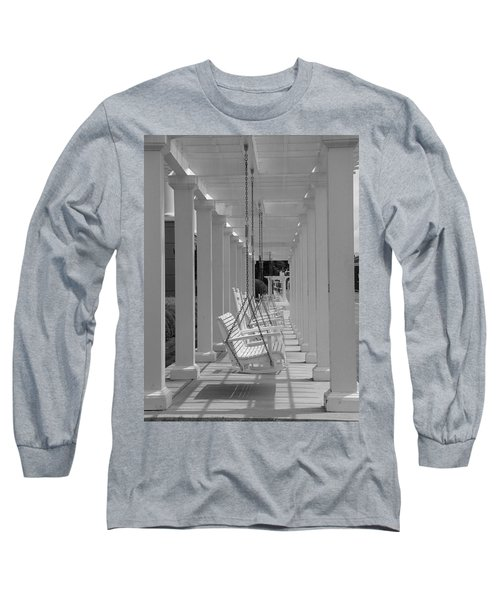 Long Sleeve T-Shirt featuring the photograph Sit A Spell by Greg Simmons