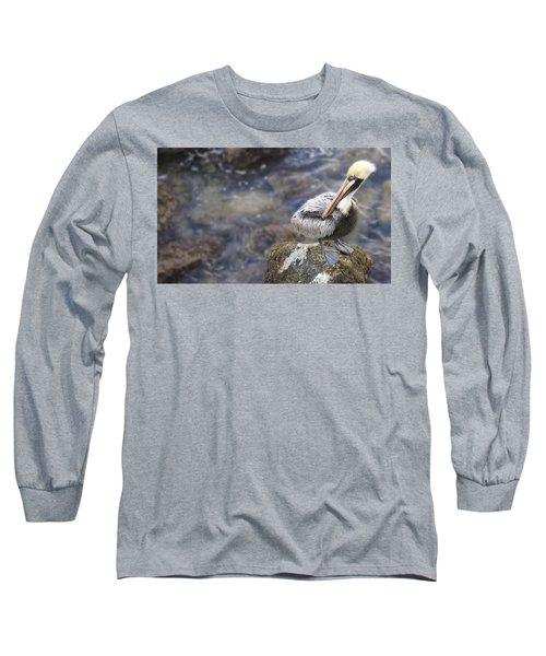 Sitting On A Rock In The Bay Long Sleeve T-Shirt