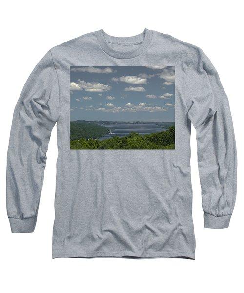 Skaneateles Lake Long Sleeve T-Shirt by Richard Engelbrecht
