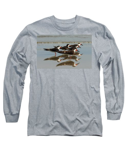 Skimmers With Reflection Long Sleeve T-Shirt