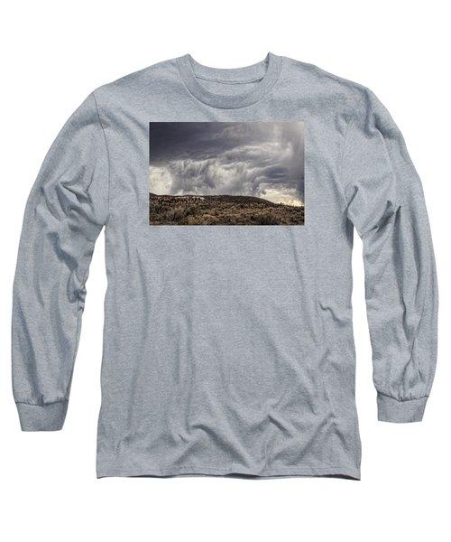 Skirting The Storm Long Sleeve T-Shirt by Joan Davis