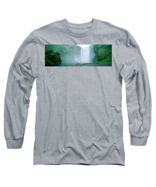 Skogafoss Falls, Skogar River, Iceland Long Sleeve T-Shirt