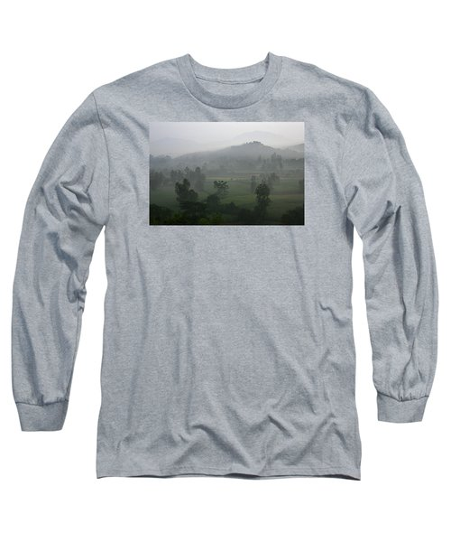 Long Sleeve T-Shirt featuring the photograph Skc 0079 A Winter Morning by Sunil Kapadia
