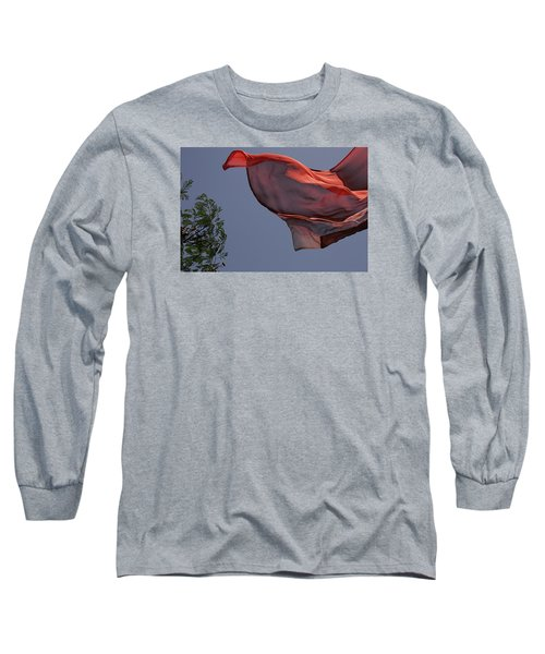 Long Sleeve T-Shirt featuring the photograph Skc 0958 The Flying Saree by Sunil Kapadia