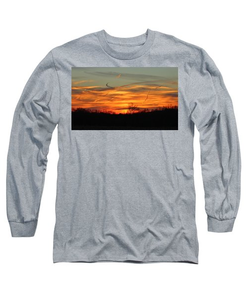 Sky At Sunset Long Sleeve T-Shirt
