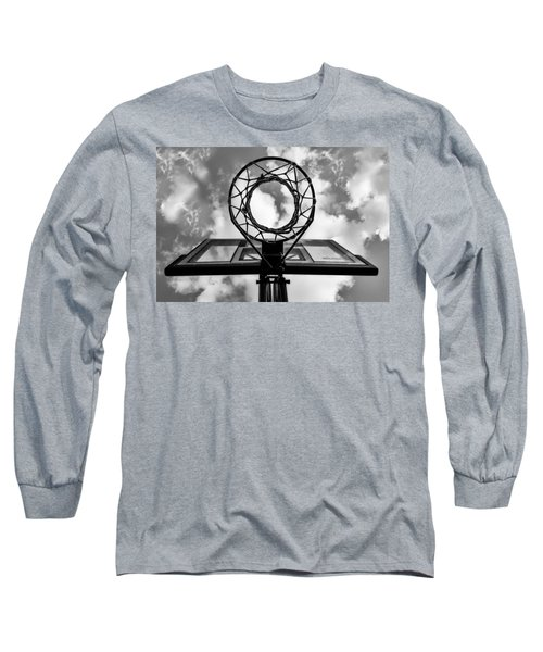 Sky Hoop Basketball Time Long Sleeve T-Shirt