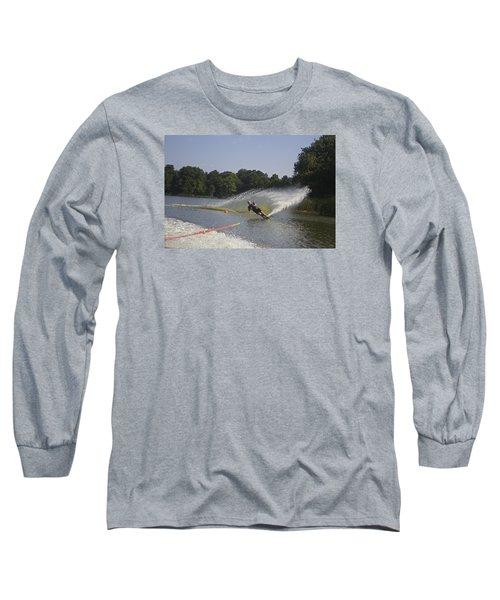 Slalom Waterskiing Long Sleeve T-Shirt by Venetia Featherstone-Witty