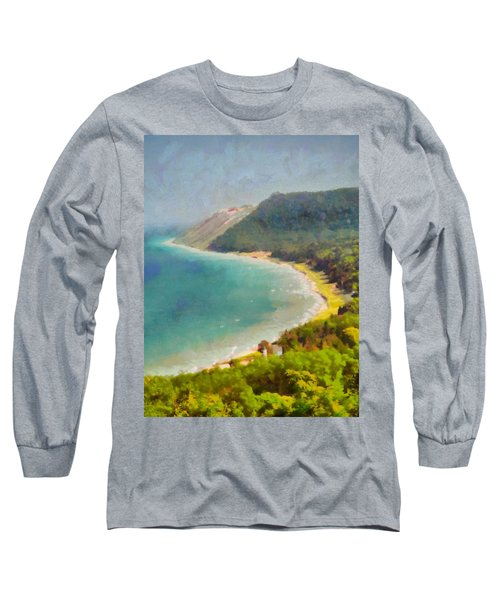 Sleeping Bear Dunes Lakeshore View Long Sleeve T-Shirt