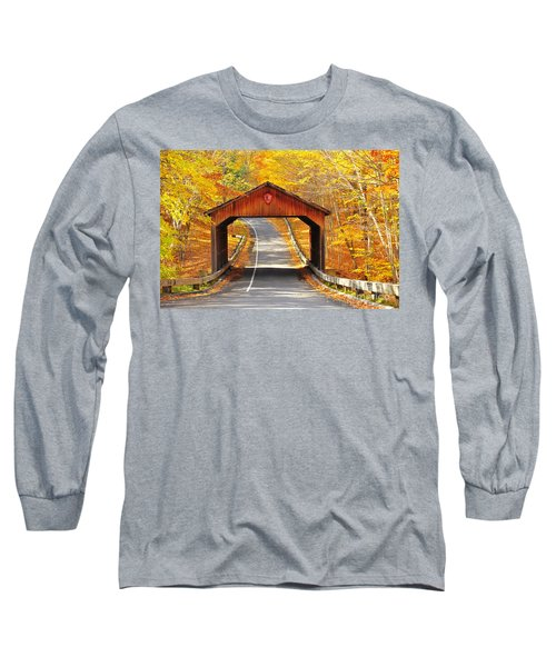 Sleeping Bear National Lakeshore Covered Bridge Long Sleeve T-Shirt by Terri Gostola