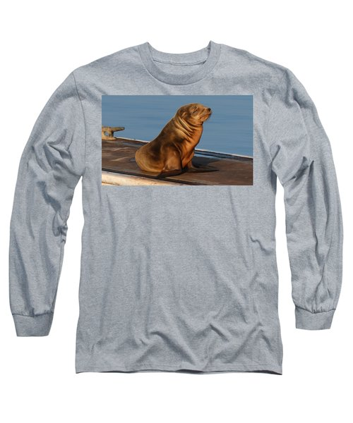 Sleeping Wild Sea Lion Pup  Long Sleeve T-Shirt